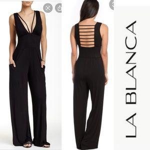 LA BLANCA Passport Black Jumpsuit